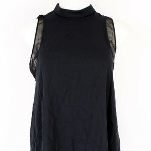 Rachel Roy Black Flowy Tank Size Medium